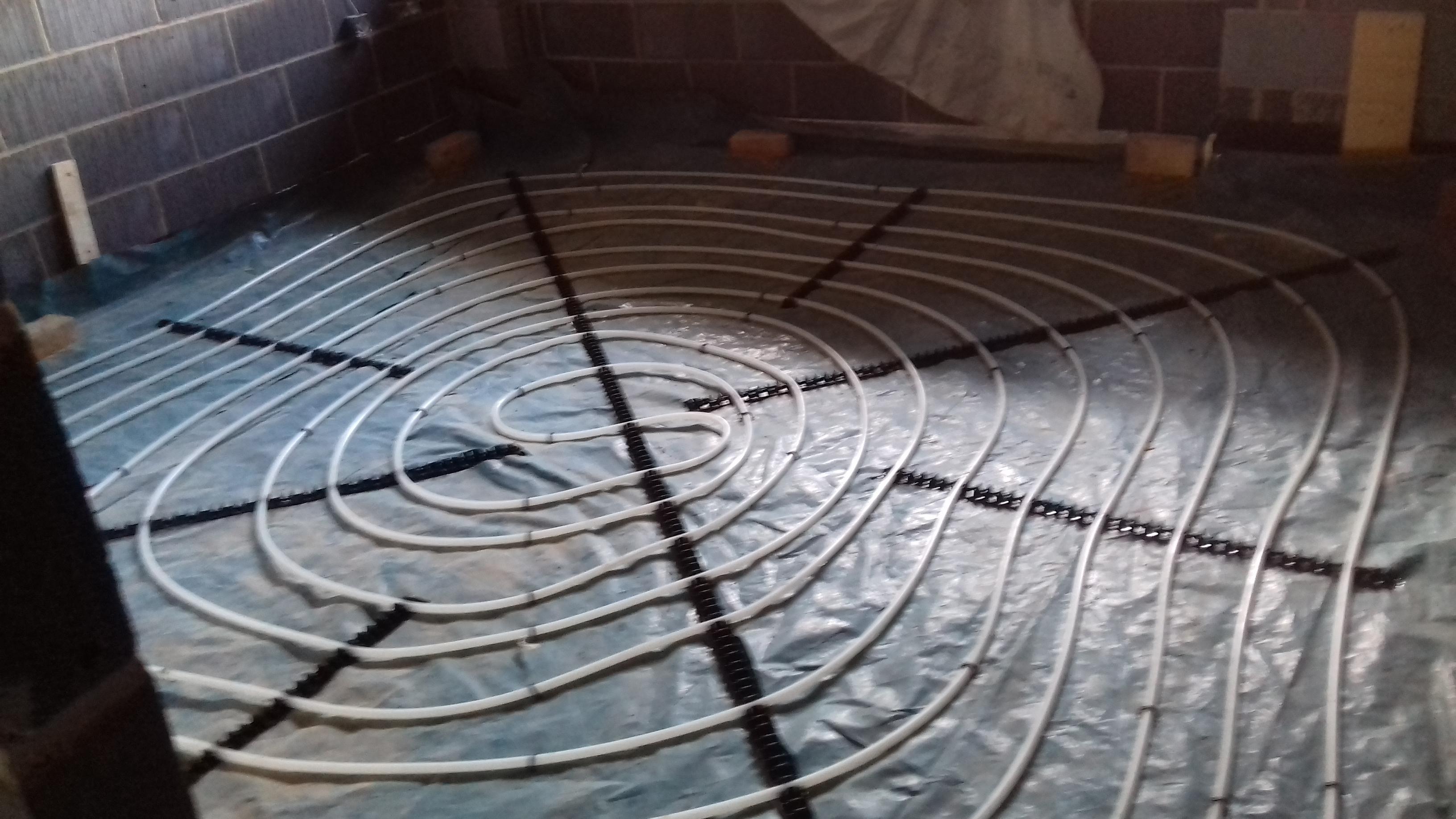 wet underfloor heating